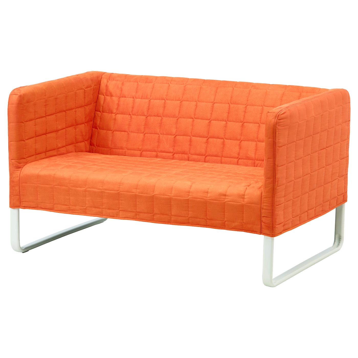Knopparp 2 seat sofa orange ikea for Sofa cama puff barato
