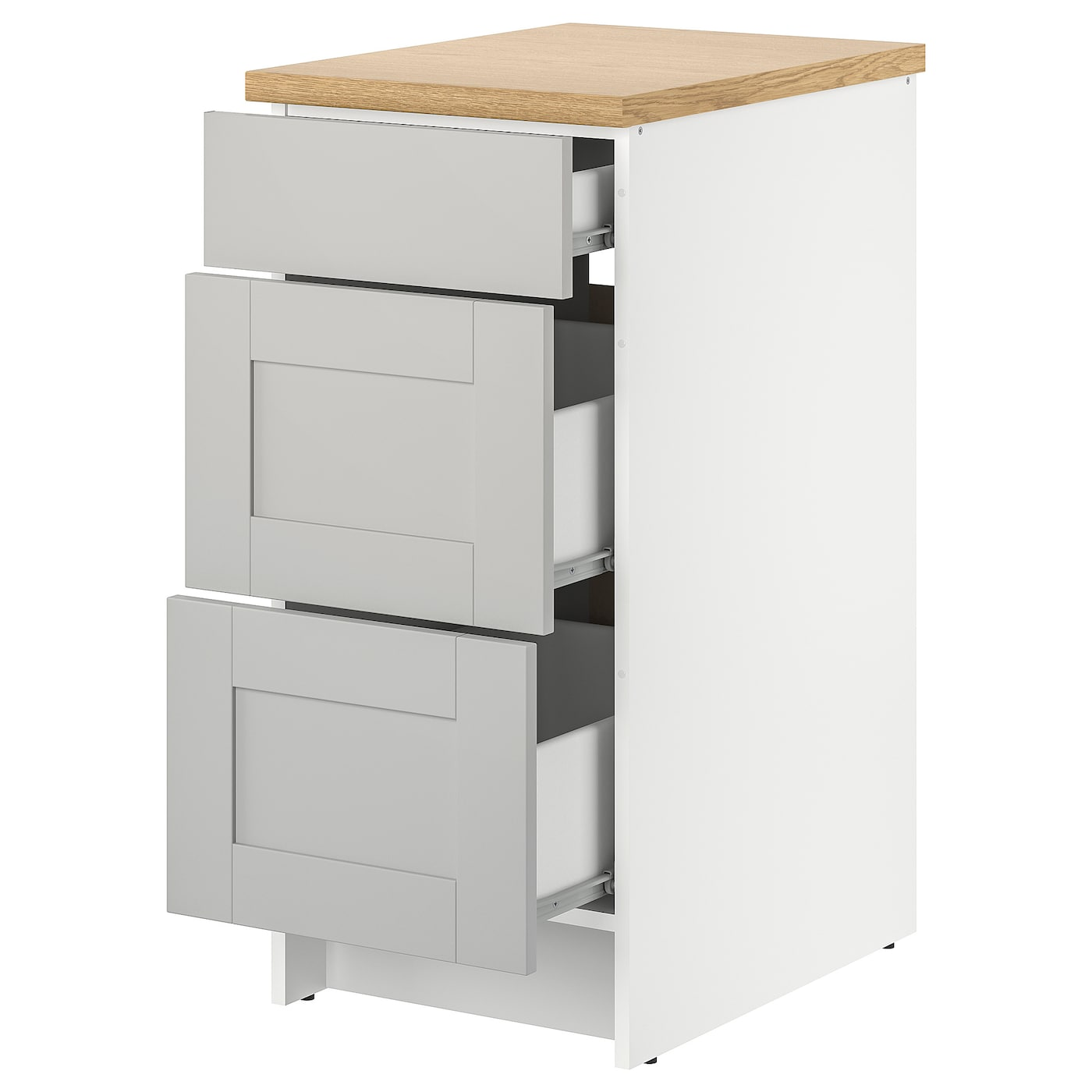 IKEA KNOXHULT base cabinet with drawers Smooth-running drawer with drawer stop.