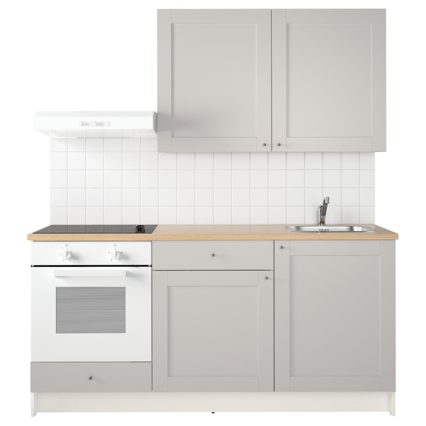 KNOXHULT Kitchen Grey 180x61x220 cm  IKEA -> Ikea Kuchnie Uchwyty