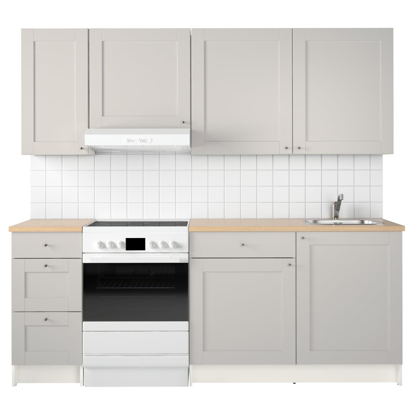 KNOXHULT Kitchen Grey 220x61x220 cm  IKEA -> Ikea Kuchnie Uchwyty