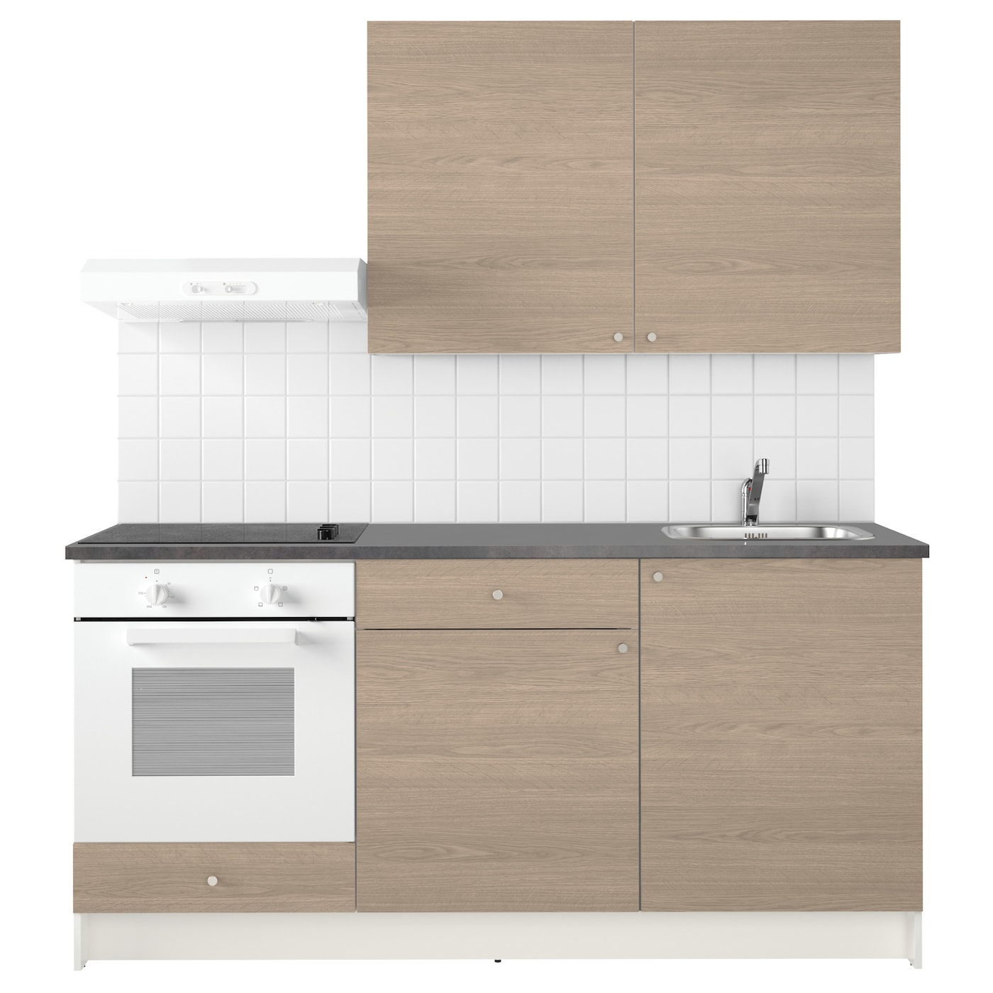 Knoxhult kitchen wood effect grey 180x61x220 cm ikea - Cucina 180 cm ...