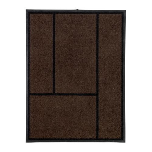 KÖGE Door mat IKEA Easy to clean; shake, vacuum or rinse.  Rubber on the underside; adds weight to the rug and keeps it firmly in place.