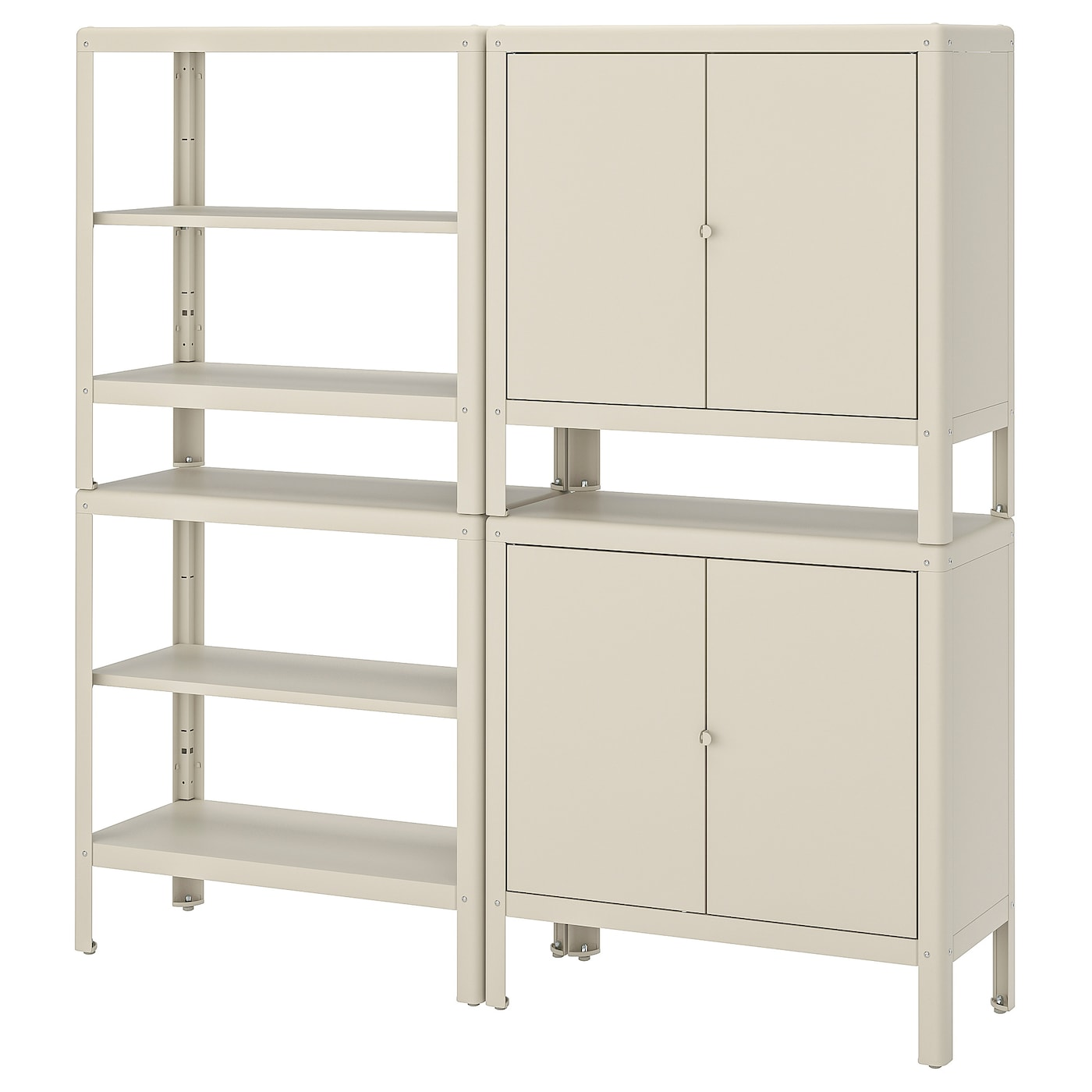 IKEA KOLBJÖRN shelving unit with 2 cabinets Suitable for both indoor and outdoor use.