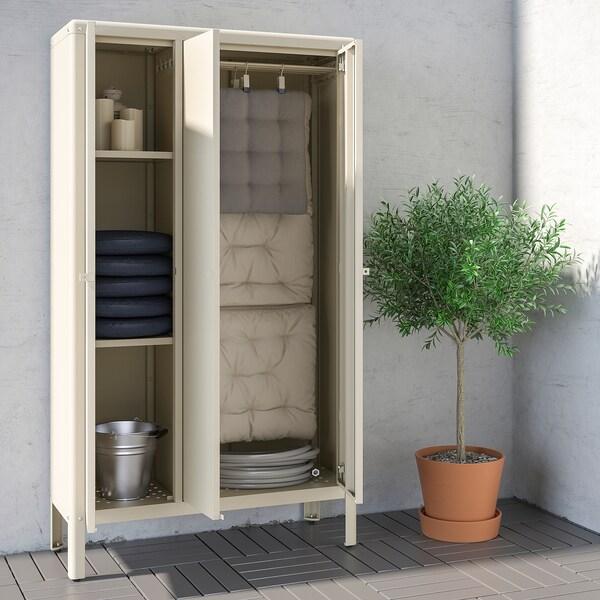 KOLBJÖRN Cabinet in/outdoor, beige, 90x161 cm