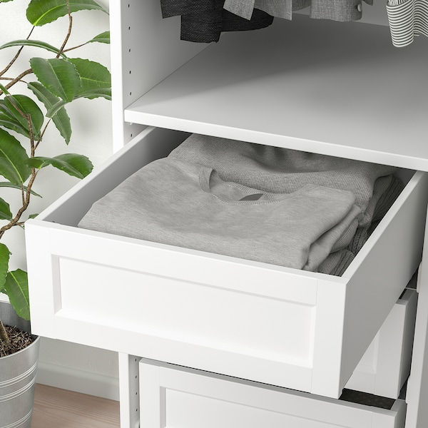 KOMPLEMENT Drawer with framed front, white, 50x58 cm