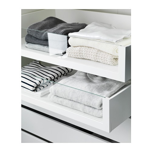 komplement drawer with glass front white 100x58 cm ikea. Black Bedroom Furniture Sets. Home Design Ideas
