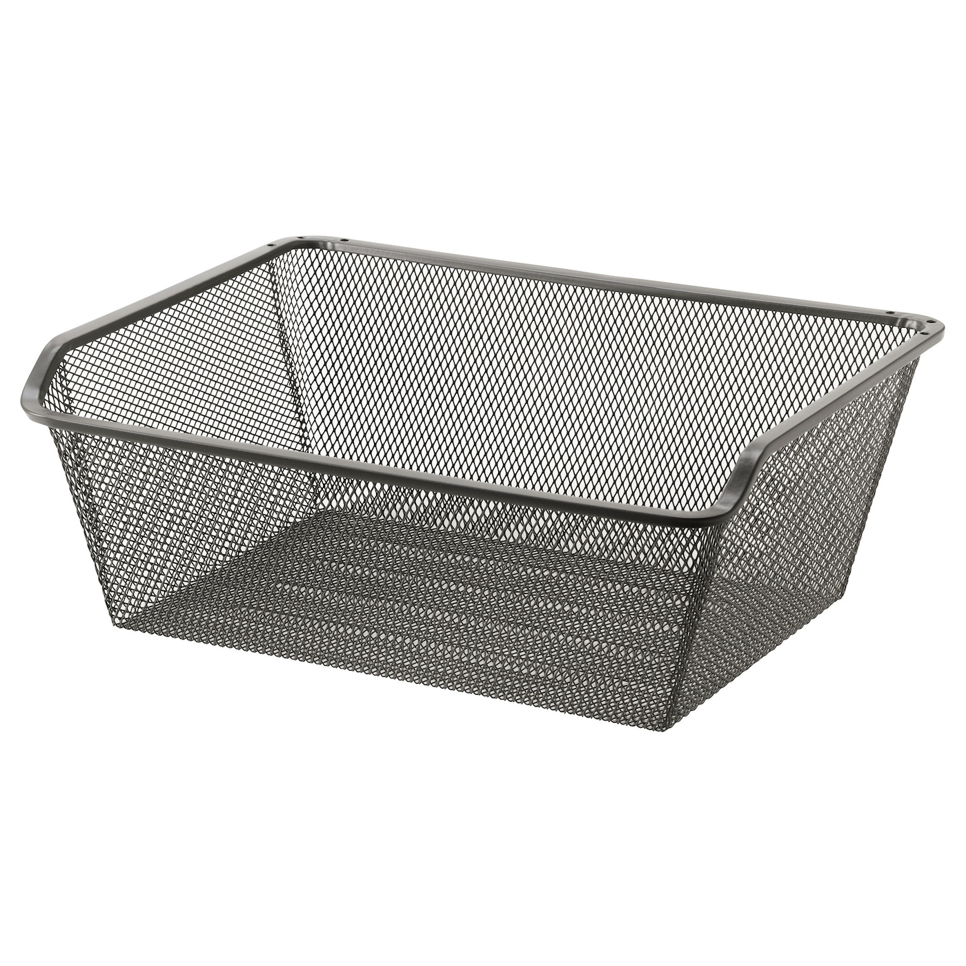 komplement mesh basket with pull out rail dark grey 50x35 cm ikea. Black Bedroom Furniture Sets. Home Design Ideas