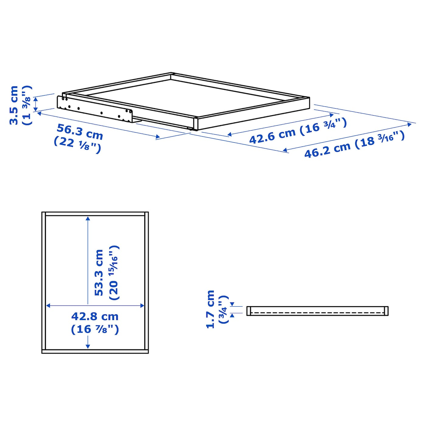 IKEA KOMPLEMENT pull-out tray 10 year guarantee. Read about the terms in the guarantee brochure.