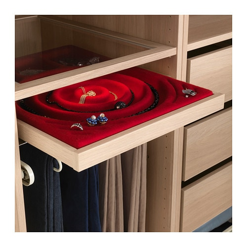 Komplement pull out tray white stained oak effect 50x58 cm ikea - Dressing ikea komplement ...