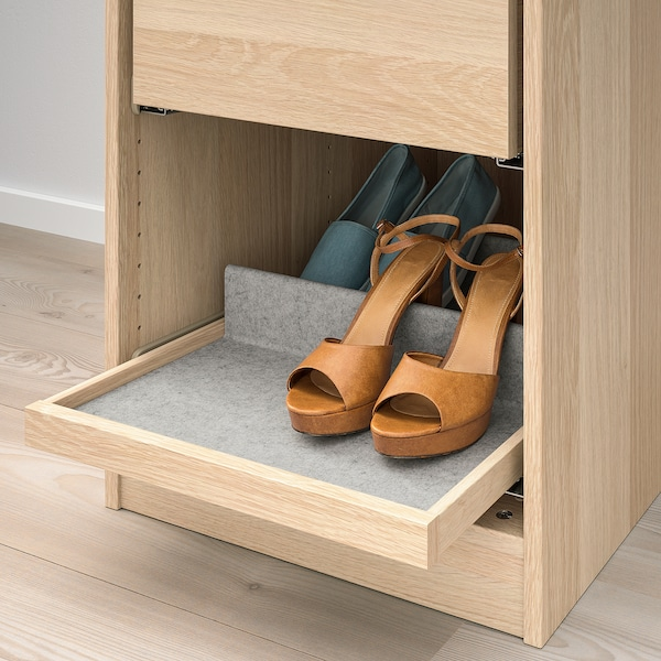 KOMPLEMENT Pull-out tray, white stained oak effect, 50x58 cm