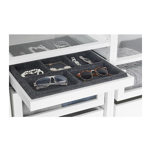Komplement pull out tray with insert white grey 50x58 cm ikea - Dressing ikea komplement ...