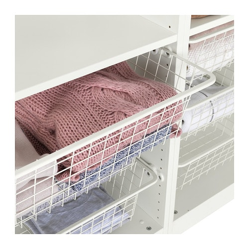 komplement wire basket with pull out rail white 100x35 cm. Black Bedroom Furniture Sets. Home Design Ideas