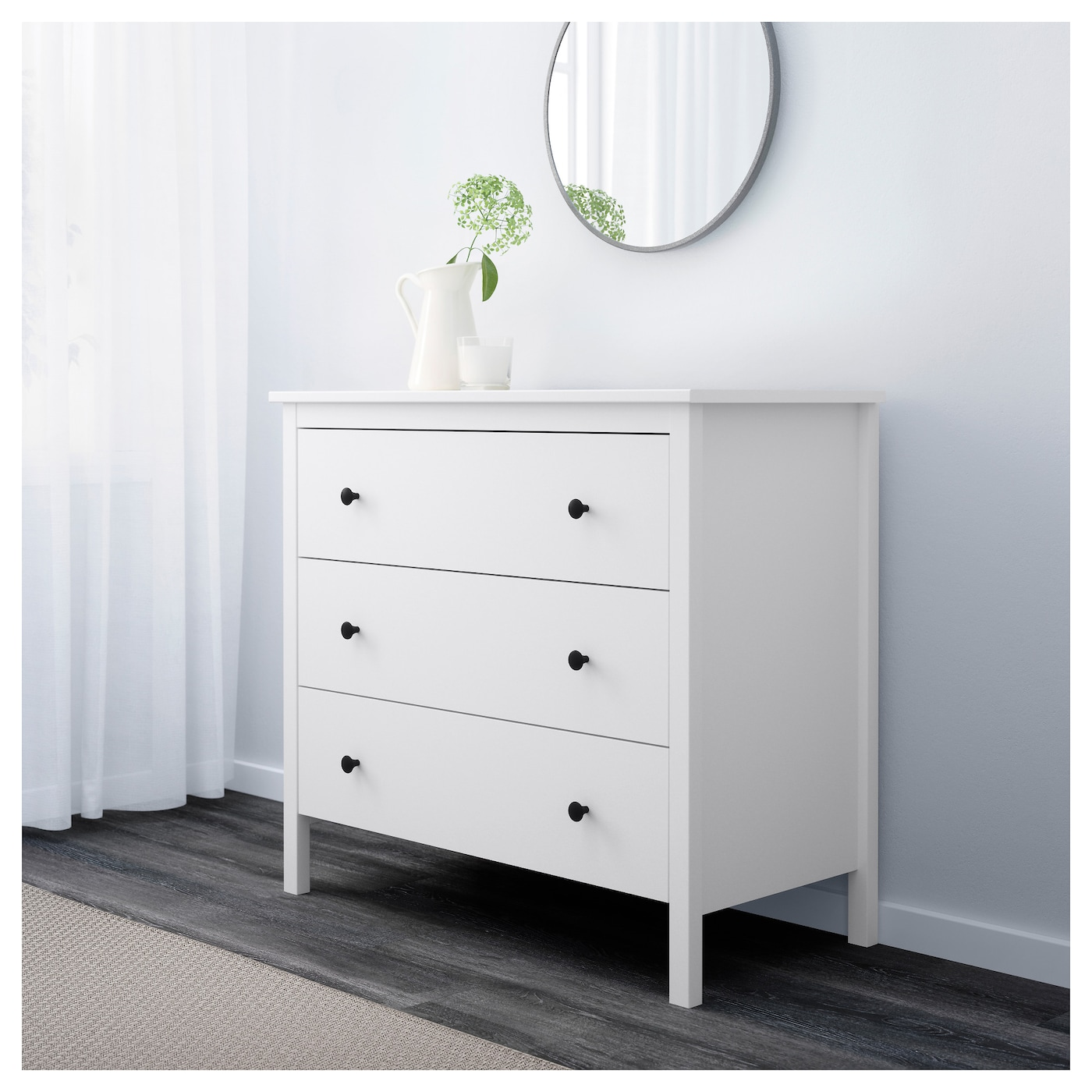 #67804B KOPPANG Chest Of 3 Drawers White 90x82 Cm IKEA with 2000x2000 px of Brand New Ikea 3 Drawer Dresser White 20002000 pic @ avoidforclosure.info