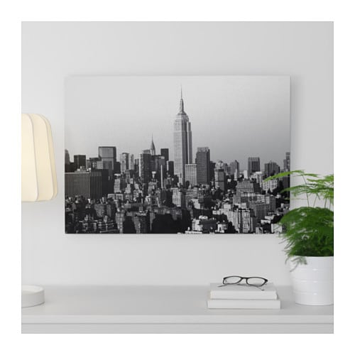Kopparfall picture city skyline 70x49 cm ikea for Ikea new york city