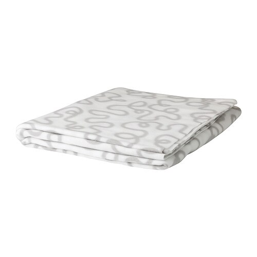 IKEA KRÅKRIS throw The fleece throw feels soft against your skin and can be machine washed.