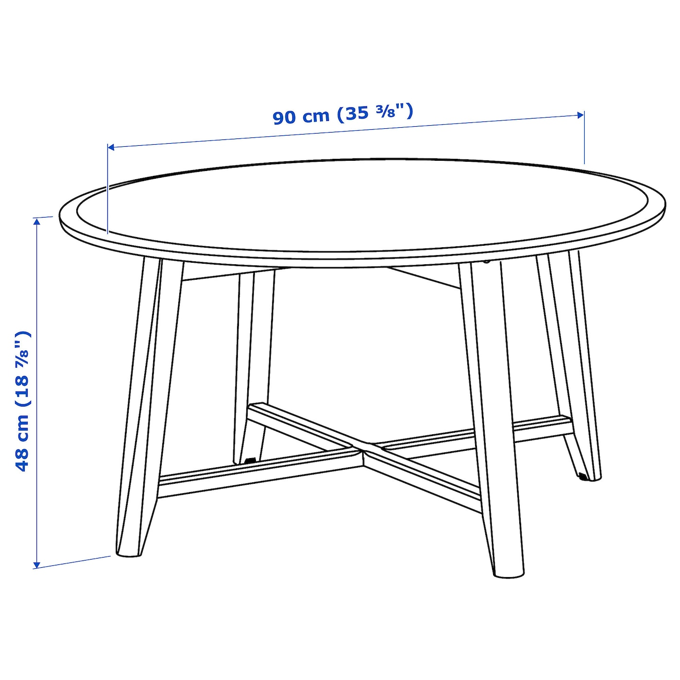 IKEA KRAGSTA coffee table The table legs are made of solid wood, a hardwearing natural material.