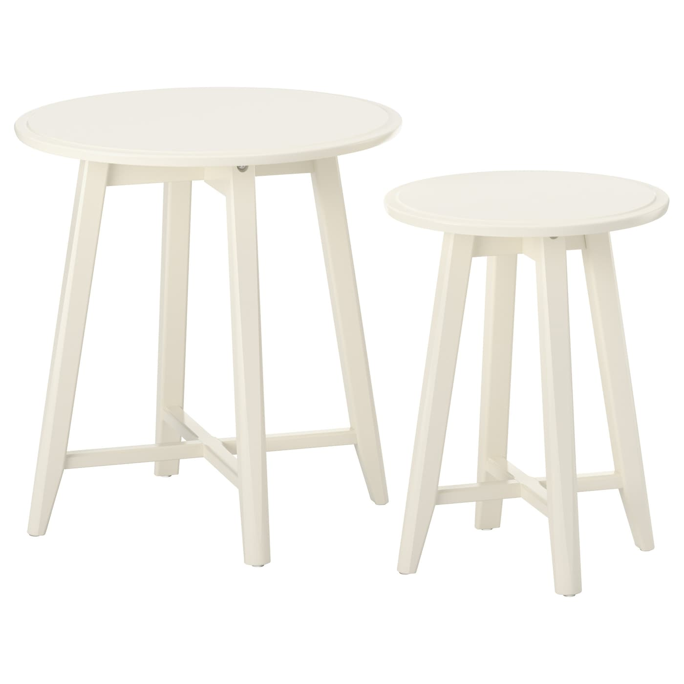 kragsta nest of tables set of 2 white ikea. Black Bedroom Furniture Sets. Home Design Ideas
