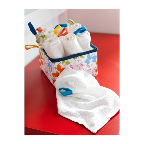 IKEA KRAMA washcloth Cotton, soft and nice against your child's skin.