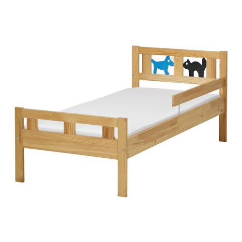 Ikea Malm Frisiertisch Aufbau ~ KRITTER Bed frame and guard rail Pine 70×160 cm  IKEA
