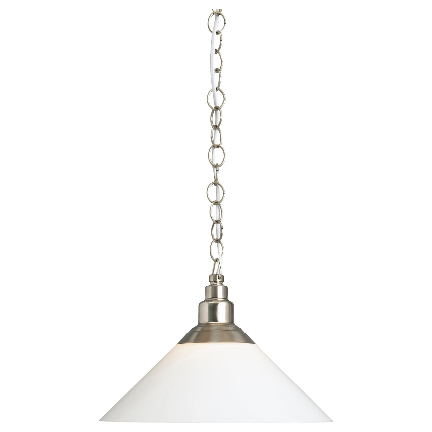 KROBY Pendant Lamp Nickel Plated Glass IKEA