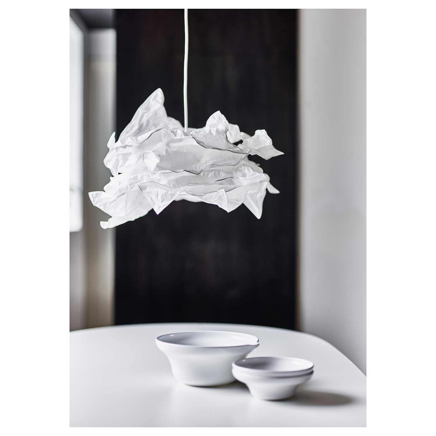 krusning pendant lamp shade white 43 cm ikea. Black Bedroom Furniture Sets. Home Design Ideas