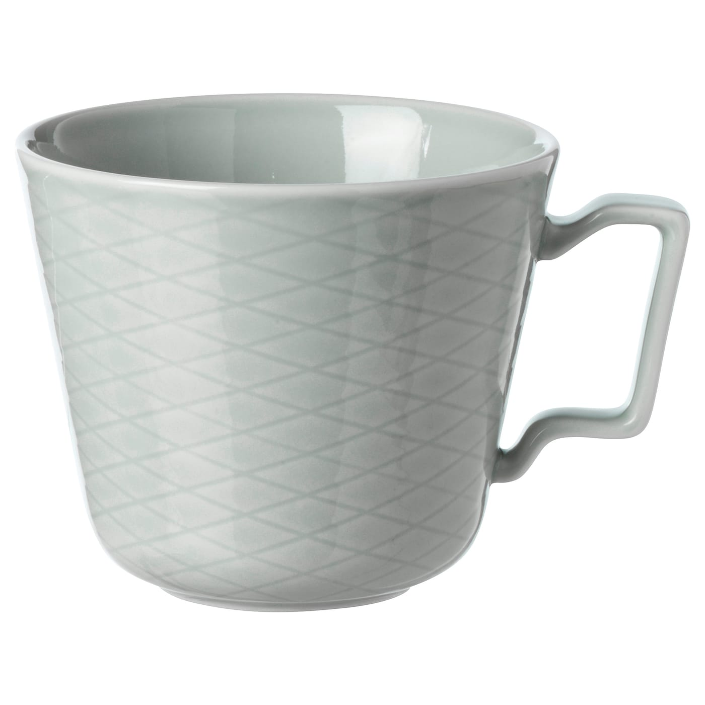 IKEA KRUSTAD mug Made of feldspar porcelain, which makes the cup impact resistant and durable.