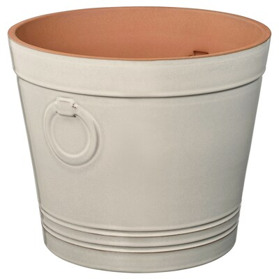 KRYDDTIMJAN plant pot in/outdoor white 26 cm 30 cm 24 cm 28 cm