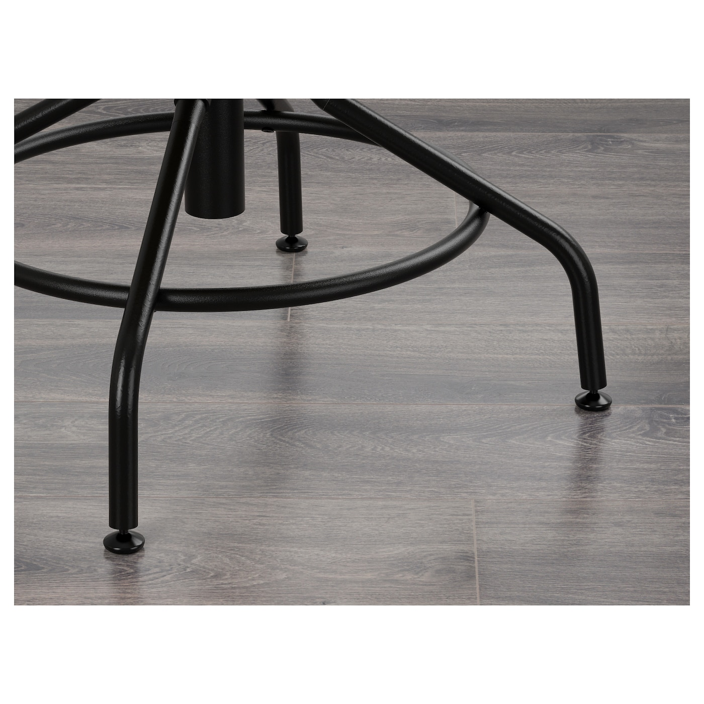 IKEA KULLABERG swivel chair The metal ring underneath can be used as a footrest.
