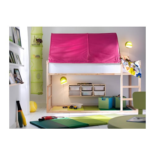 Kura bed tent pink ikea for Letto kura ikea