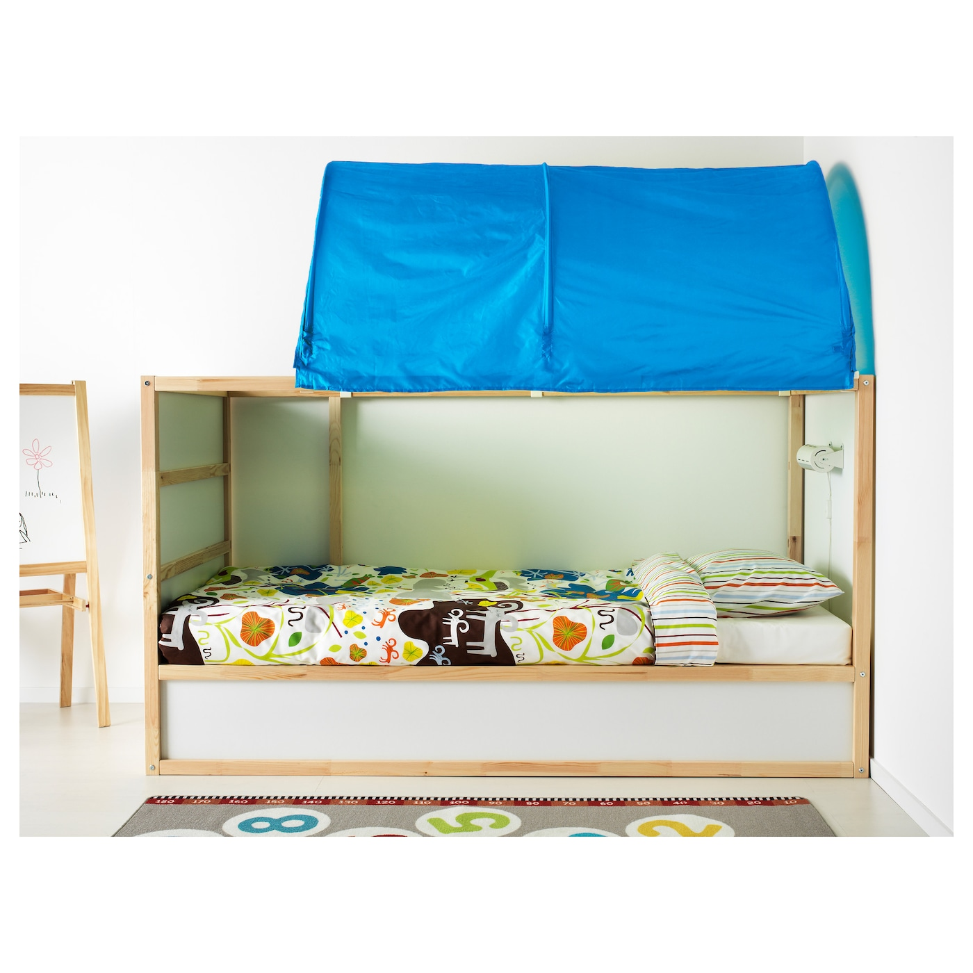 Top Ikea Toddler Bed White Lit Vikare With