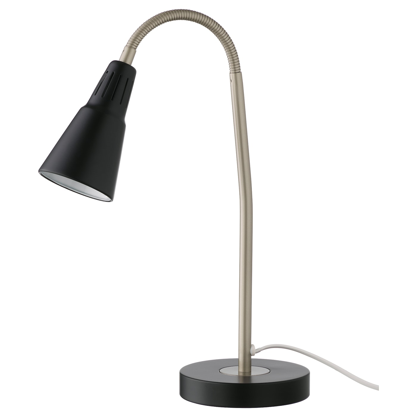 IKEA KVART work lamp Provides a directed light that is great for reading.