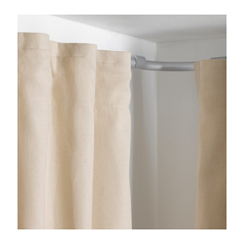 IKEA KVARTAL corner piece, single track Makes it possible for curtains to go around corners.