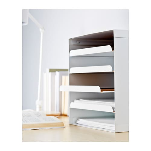 IKEA KVISSLE letter tray You can easily access your papers as the compartments can be pulled out.