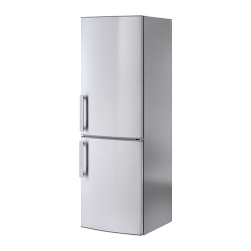 kylig fridge freezer a no frost stainless steel 220 91 l ikea. Black Bedroom Furniture Sets. Home Design Ideas