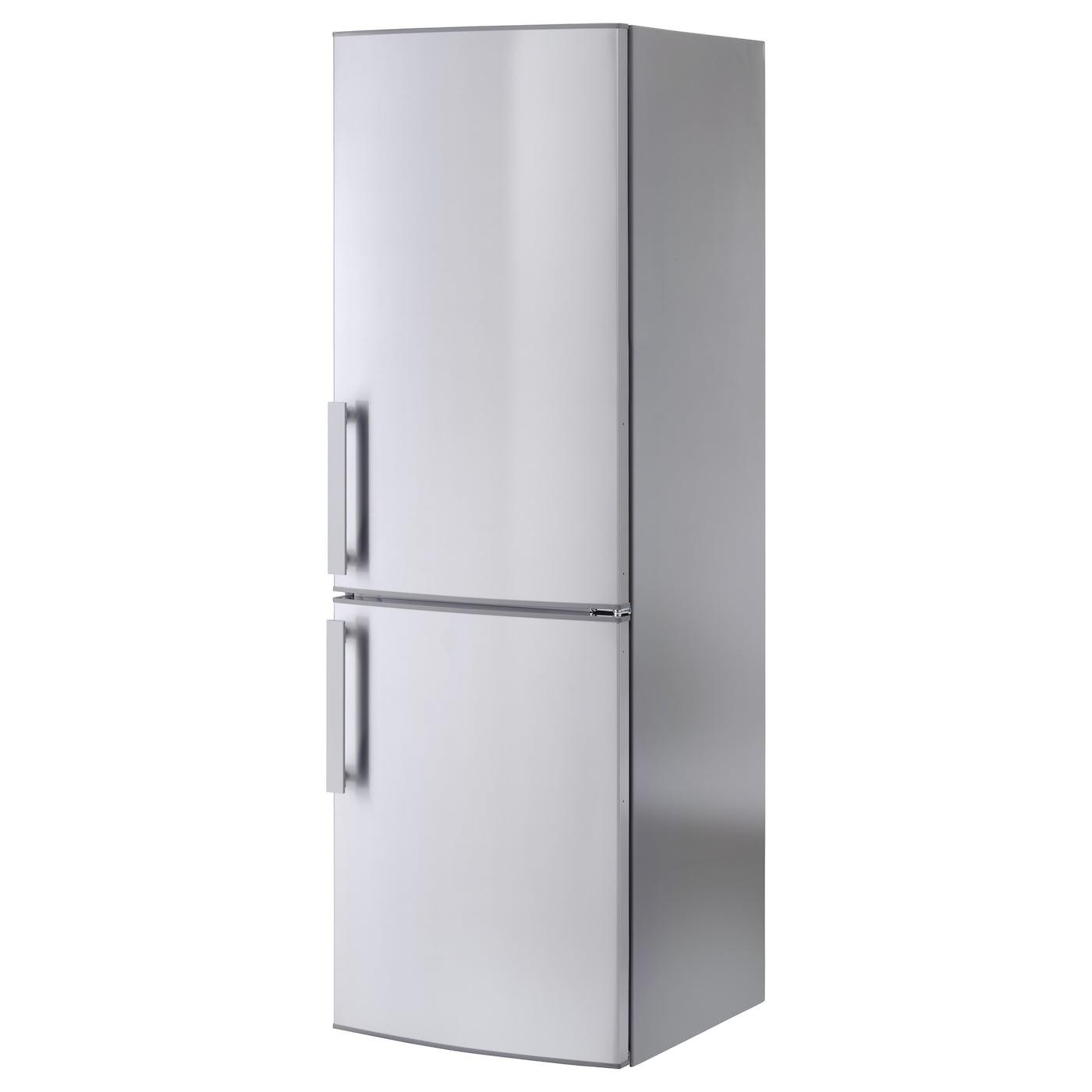 kylig fridge freezer a no frost stainless steel 220 91 l. Black Bedroom Furniture Sets. Home Design Ideas