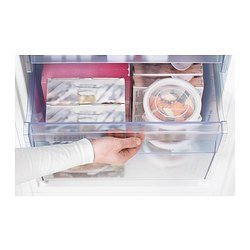 Kylig fridge freezer a no frost stainless steel 226 92 l for Ikea chest freezer