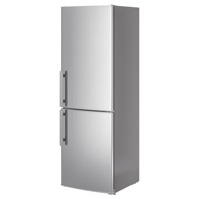 KYLSLAGEN fridge/freezer stainless steel 59.5 cm 67.7 cm 184.5 cm 2.2 m 220 l 91 l 75 kg