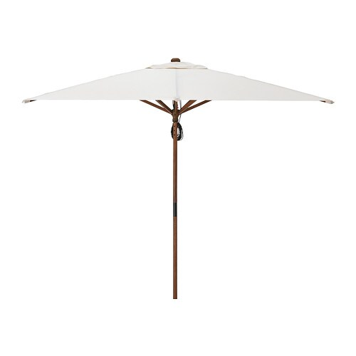 IKEA LÅNGHOLMEN parasol You can adjust the height of the parasol to perfectly suit your space.