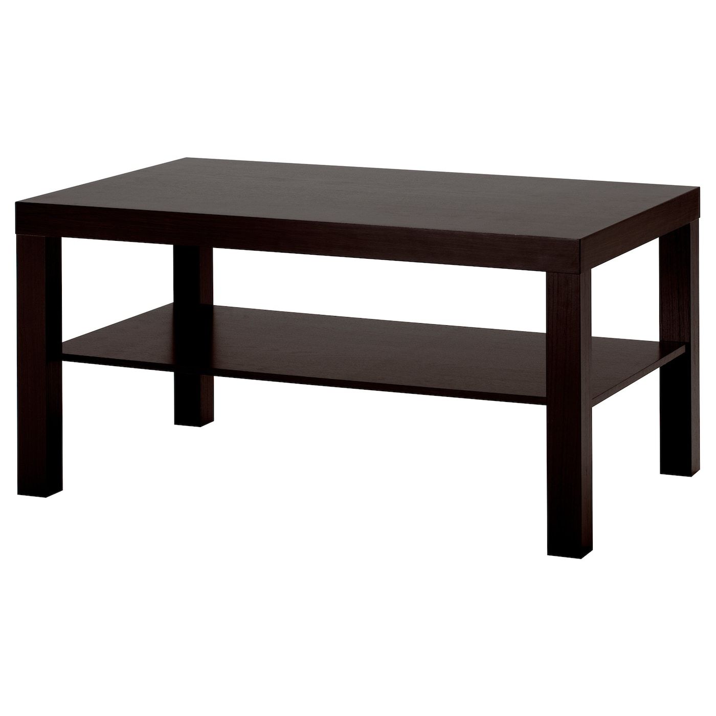 Lack coffee table black brown 90x55 cm ikea for Table en pin ikea