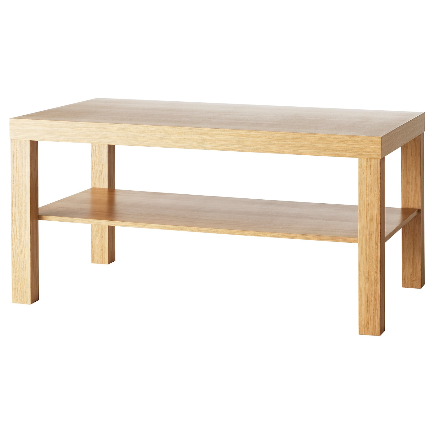 Lack coffee table oak effect 90x55 cm ikea for Coffee end tables