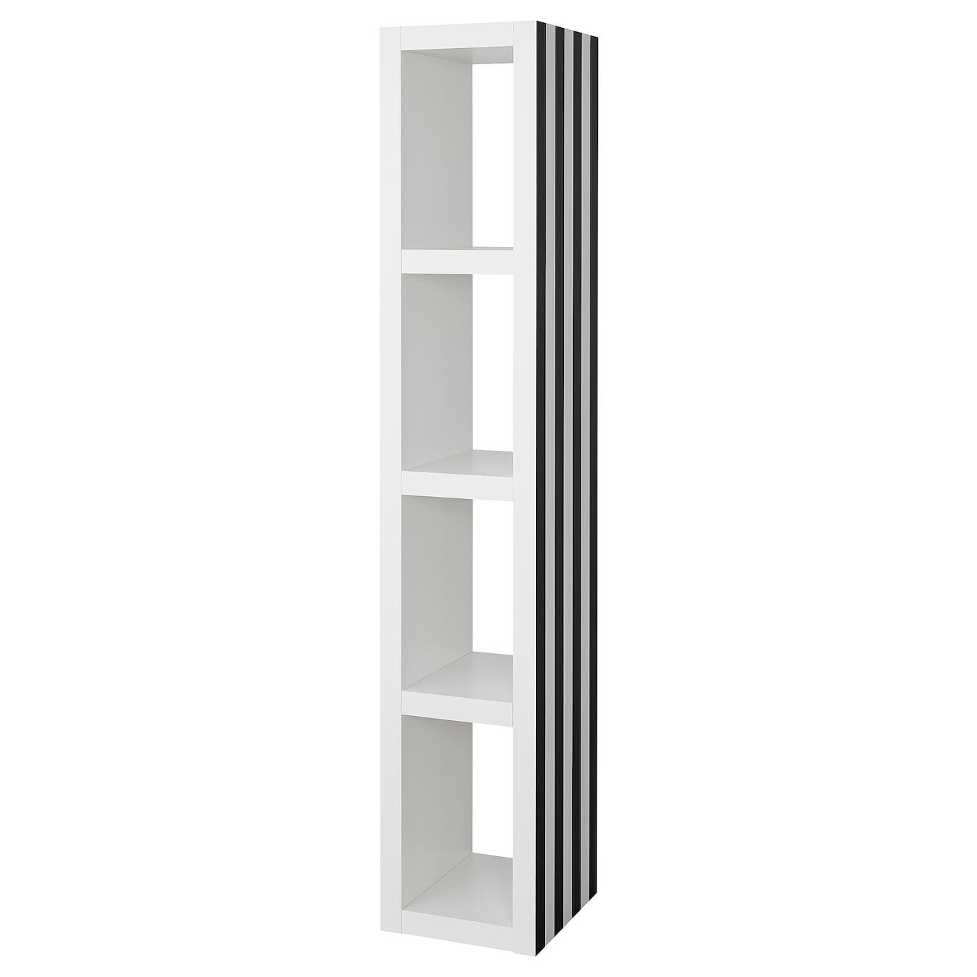 lack shelving unit black white 35 x 190 cm ikea. Black Bedroom Furniture Sets. Home Design Ideas