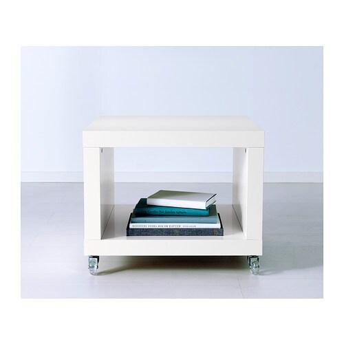 LACK Side Table On Castors White 55x55 Cm IKEA