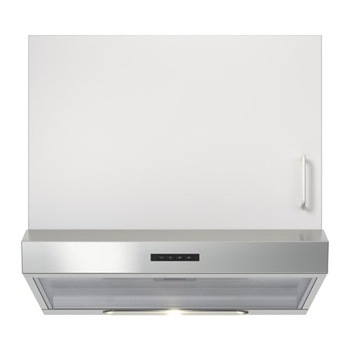 IKEA LAGAN wall mounted extractor hood Control panel placed at front for easy access and use.