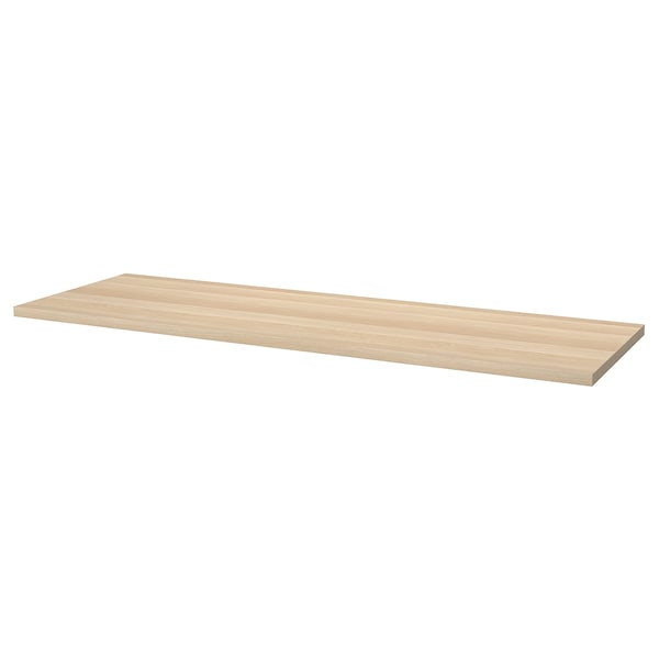 LAGKAPTEN Table top, white stained oak effect, 200x60 cm