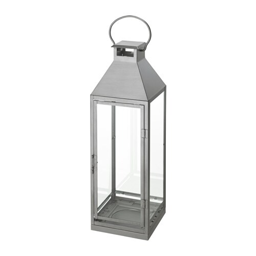 IKEA LAGRAD lantern f block candle, in/outdoor Suitable for both indoor and outdoor use.