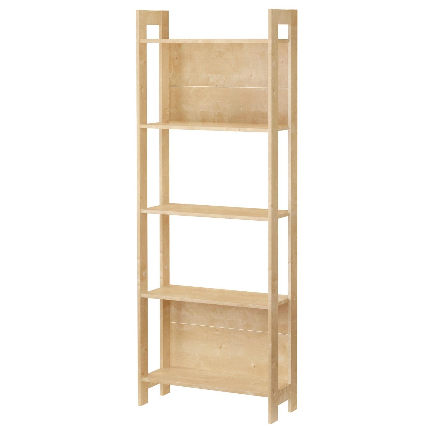 Ikea holzregal  LAIVA Bookcase Birch effect 62x165 cm - IKEA