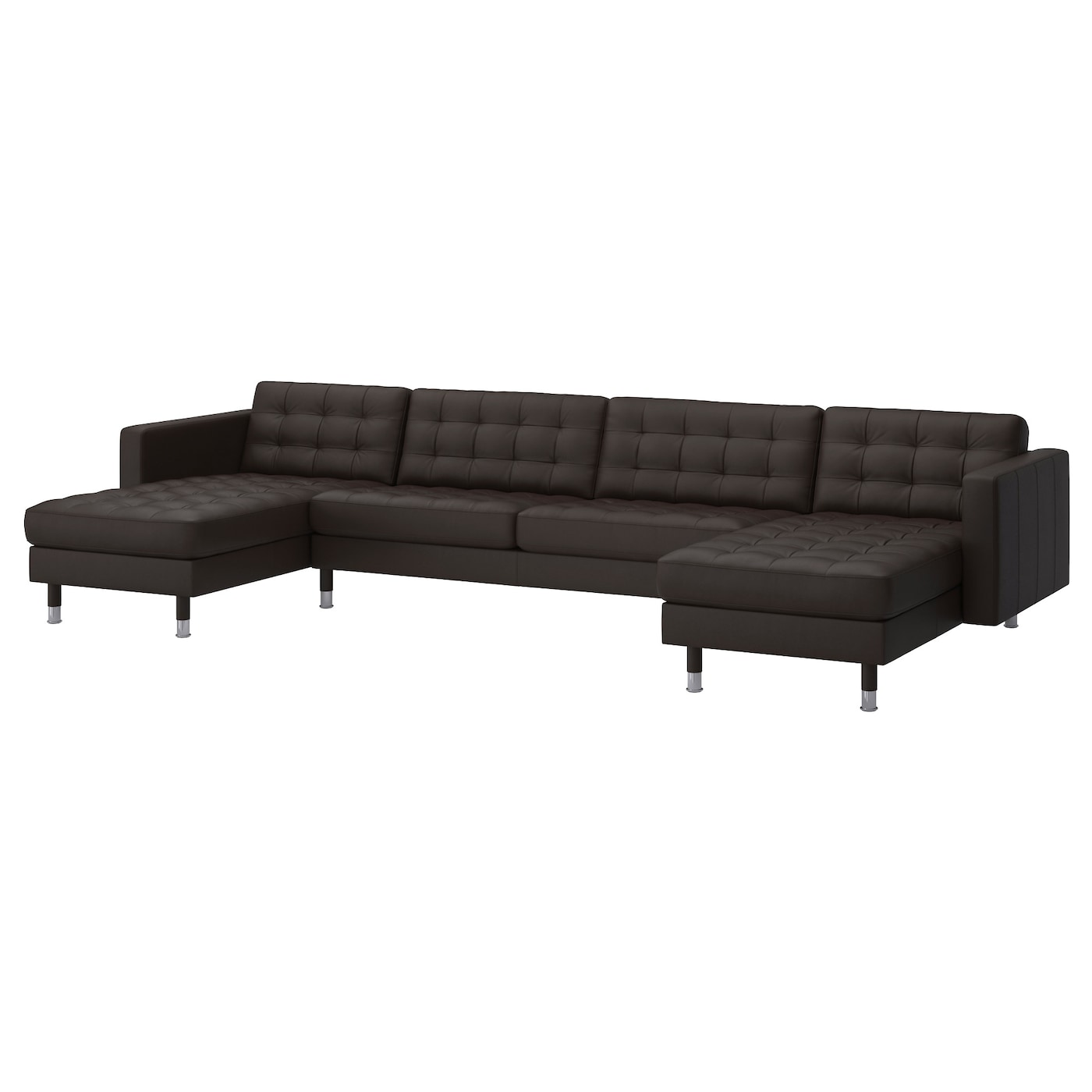 landskrona 2 chaise longues three seat sofa grann bomstad dark brown metal ikea. Black Bedroom Furniture Sets. Home Design Ideas