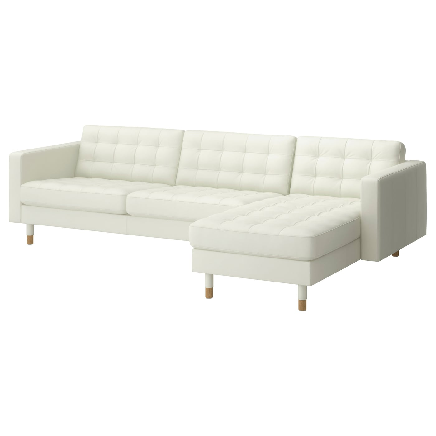 Landskrona three seat sofa and chaise longue grann bomstad for Chaise longue jardin ikea