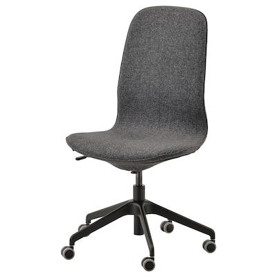 LÅNGFJÄLL Office chair, Gunnared dark grey/black
