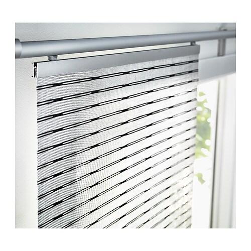 lappljung panel curtain white black 60x300 cm ikea. Black Bedroom Furniture Sets. Home Design Ideas